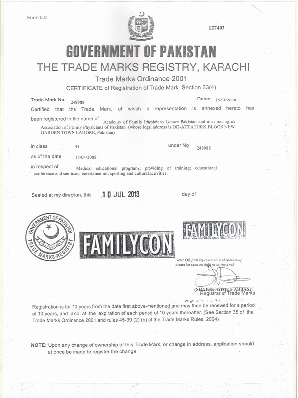 TM Certificate
